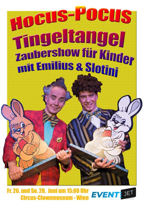 Hocus-Pocus Tingeltangel – Zaubershow für Kinder